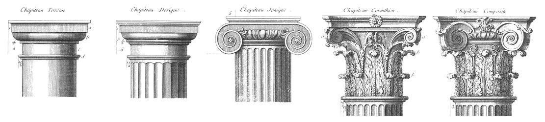 Symbolism on the winding staircase 5 steps upon the for 5 orders of architecture